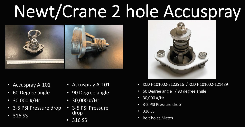 Newt/Crane 2 hole Accuspray